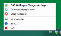 Wallpaper Changer - Try icon menu